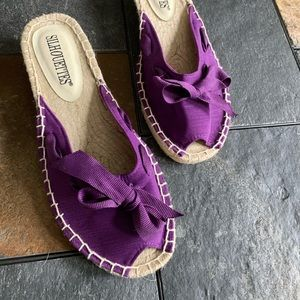 New, never worn low espadrille wedges